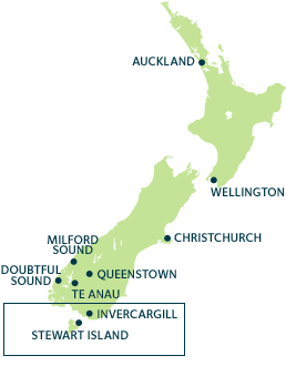 Destinations New Zealand Map