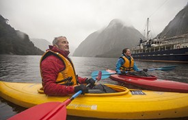 Kayaking around the fiord