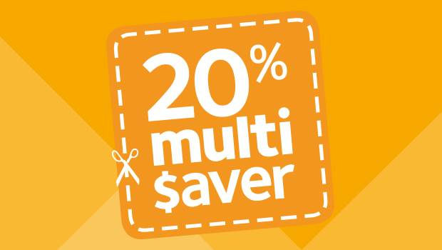 20% multisaver deals on adventures