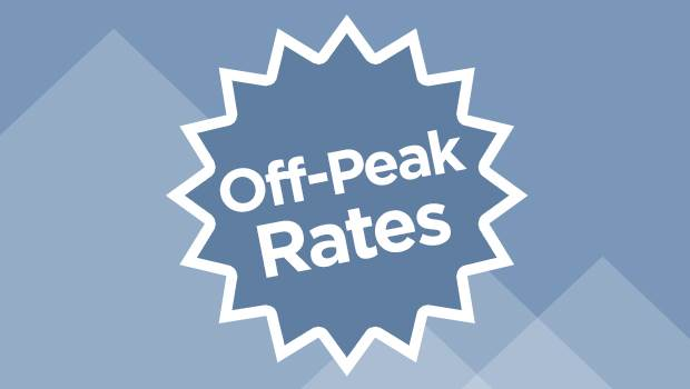 Off peak rates and deals in Queenstown